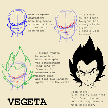 Vegeta Head Tutorial by SparkyPantsMcGee