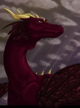 Majestic Dragon by Akira-White-Wolf