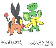 Tepig and Pansage