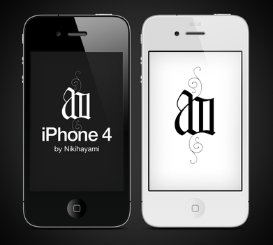 iPhone 4 vector psd by Nikihayami