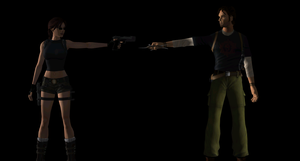 Lara and Kurtis The Encounter by JasonCroft