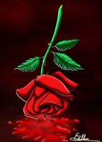 Bleeding rose by Sondim