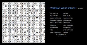 Whovian Word Search by tjevo9