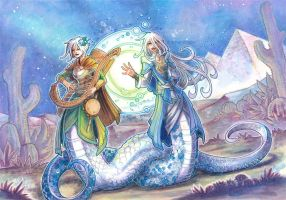 commission - lamia sisters by drachenmagier