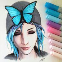 Chloe Price - Life is Strange - Copic Drawing by LethalChris