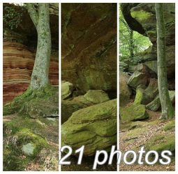 Altschlossfelsen Stock PACK 2 by Malleni-Stock