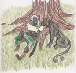 Gift-Drizzt and Guen by Sammi-The-FF-Freak