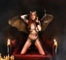 Evil Succubus Alexa by Lexlucas chained bikini by FueledbypartII