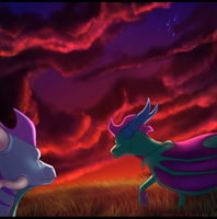 falling stars collab by aacrell