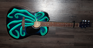 Tentacles on My Guitar - Teal by Ommin202