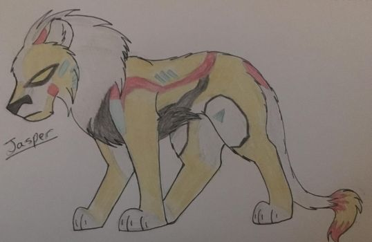 Jasper the Yellow Lion by WolfLover595