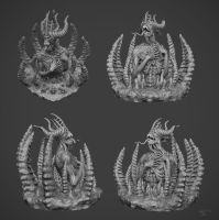 ancient thing zbrush by OmrZrn