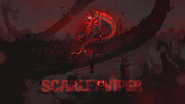 Duelyst - Scarlet Viper (Wallpaper) by Getsukeii