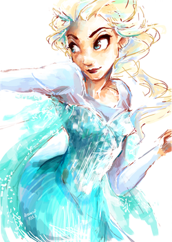 Elsa from Frozen by Dreamsoffools