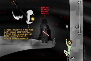 Outtakes II: GLaDOS and Vader by lia-a-eastwood