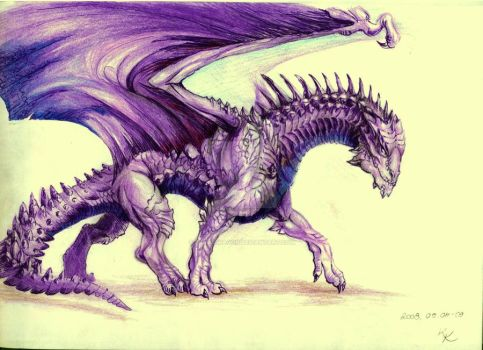 Amethyst Dragon - Reference by BrassDragon