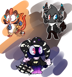 Adoptable batch! -Point auction open- by ToyMentitaAdopts