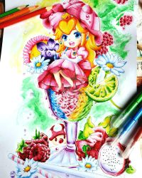 Princess Peach Cocktail coloring