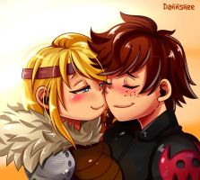 Hiccup x Astrid by Dannshee
