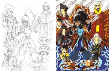 The Legend of Korra fan art sketch and color 01 by d13mon-studios