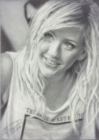 Ellie Goulding Drawing by Tokiiolicious