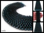 Black and Blue Dragonscale by coldfirecustoms