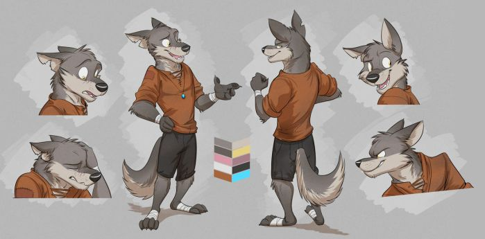 Commission: Kayden's Reference Sheet by Temiree