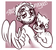 The Angel And His Boi by SmasherlovesBunny500