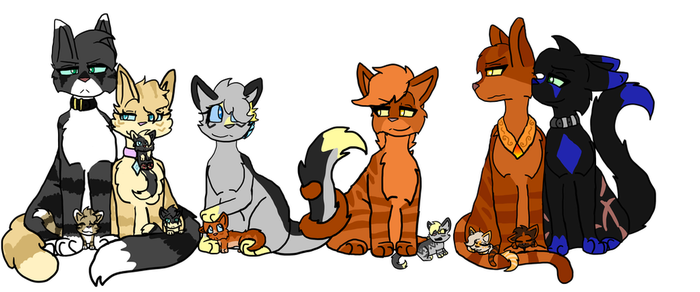 Honey and Oxys Family by Bubble-Empress