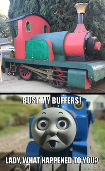 Thomas' Reaction To Lady's Condition by DanielArkansanEngine