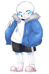 Undertale - Quick doodle of Sans by Vyolfers