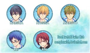Free! buttons $2 ea. by ComplexWish