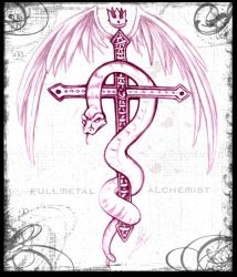FMA snake and cross symbol by Chibi-Goat