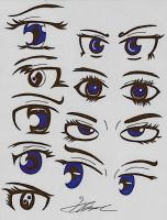 Anime/Manga eyes (2) by Sugar-Ray
