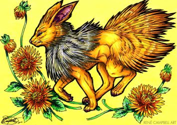Evolve the Rainbow - Jolteon by ReneCampbellArt