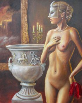 Masked Nude by dashinvaine