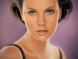 Charlize Theron by MishaART