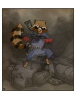Rocket Raccoon by Alexander463