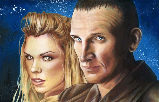 9th Doctor and Rose by RachelKaiser