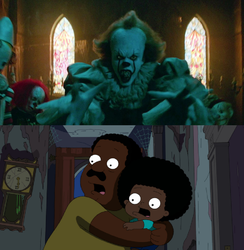 Cleveland and Rallo Get Scared by Pennywise/It by Taylor-from-SP