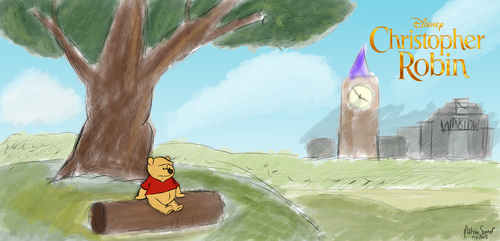 Winnie the Pooh and London Too (Christopher Robin) by NicoToonZ