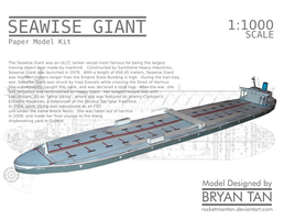 Seawise Giant (Knock Nevis) Paper Model by RocketmanTan