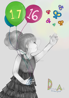 Happy 17th Birthday, DA! // monochrome by xBerrySilver