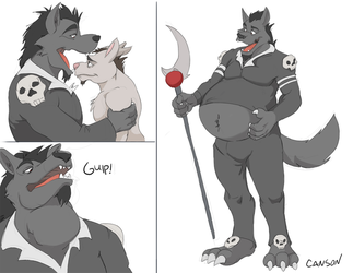 The Mad Reaper vore by Canson by NightCrestComics