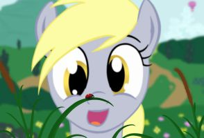 Derpy and the Ladybug by da-andi