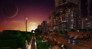 Aurora City Project [Minecraft] [13] Cyber City by NickPolyarush