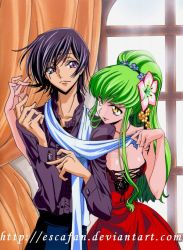 Lelouch and CC by escafan