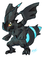 Chibi Zekrom by MoonlightStarfish