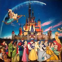 Disney Fantasy by WormholePaintings
