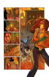Witchblade page by k-omer